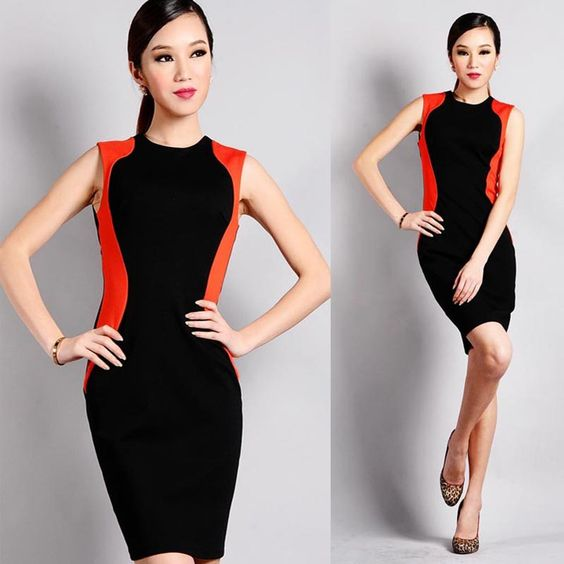 Cheap dress wedding party, Buy Quality dress women directly from China dress cocktail party Suppliers:  2 Colors Charming Fashion Ladies' Splicing Sliming Bodycon Knee-length Dress,Women Sleeveless Cute Tank Vest Penc