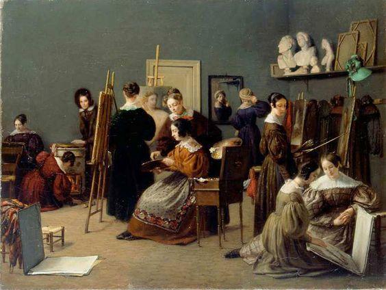 Catherine-Caroline Cogniet-Thévenin, Académie de peinture pour jeunes filles, 1836: