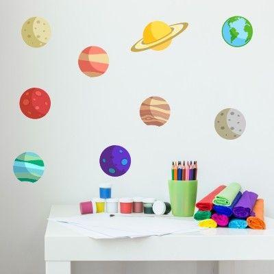 adesivo murale bambino pianeti universo | Stickers Murali Bambini ...