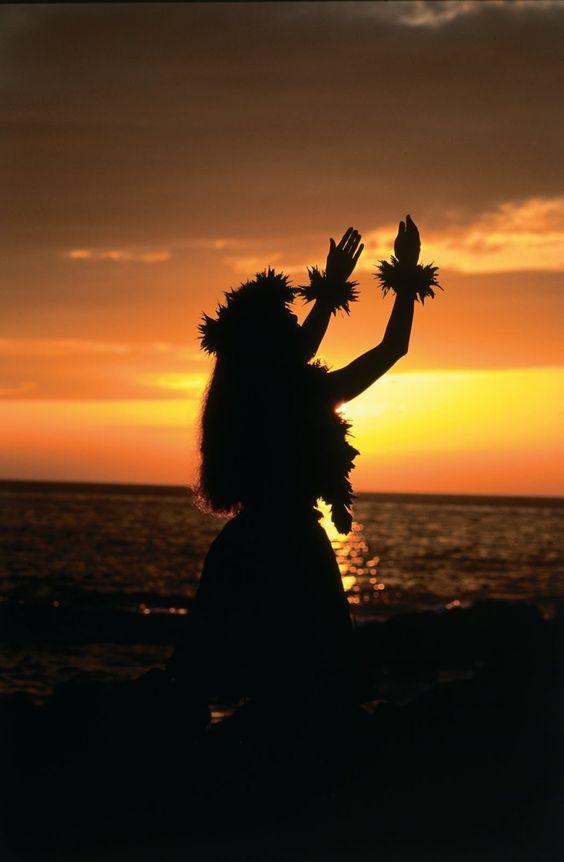 Hula_Sunset, Hawaii