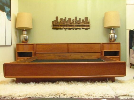 CA King storage bed...teak