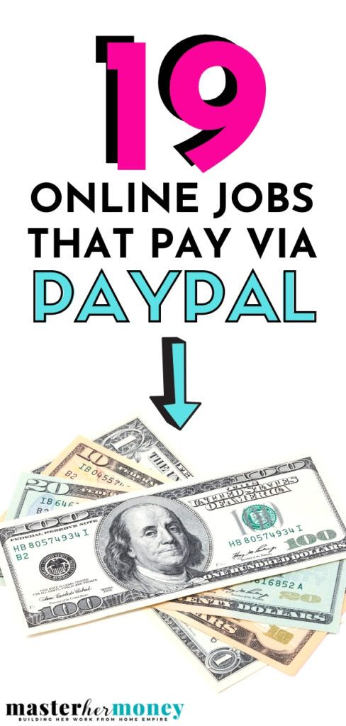 19 Online Jobs That Pay Through Paypal Online Jobs Earn Money Online Job