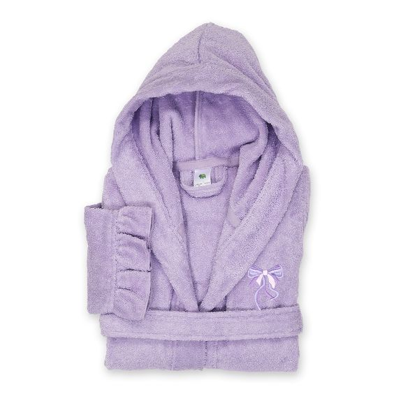 Mr.Macy Toddler GirlsPajamas Solid Silk Satin Kimono Robes Bathrobe Sleepwear