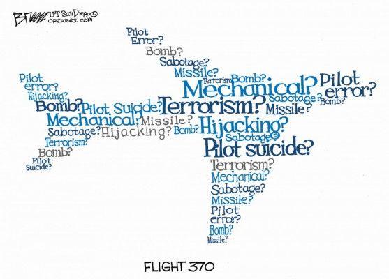 Flight 370 | Malaysia Mystery - March 2014 Cartoons