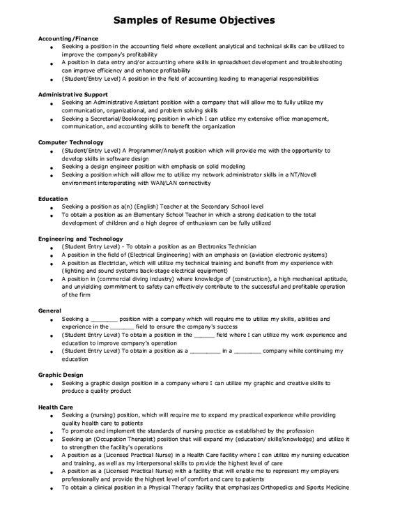 Example of Financial Advisor Resume -    resumesdesign - graphic design resume objectives