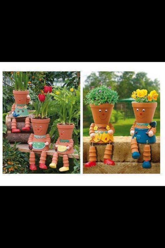 Cute flower pots