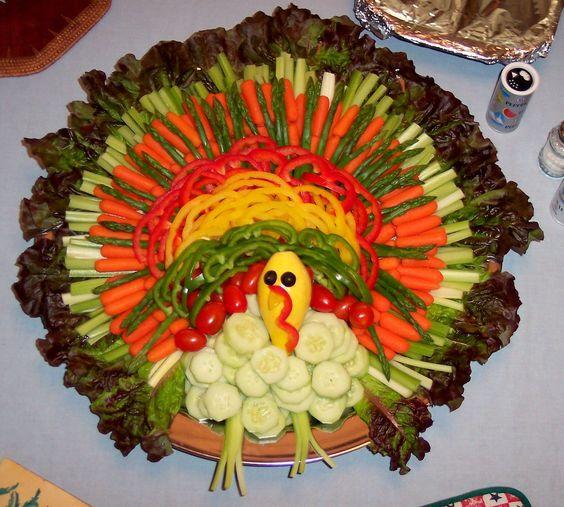 Pretty veggie platter for Thanksgiving.