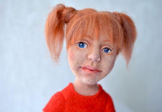 Nadel Gefilzte Puppe von Fenekdolls auf Etsy, $190.00
