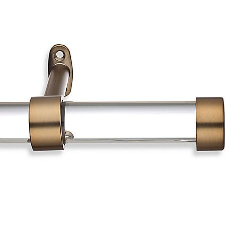 Double Adjustable Drapery Rod With Endcap Finial Rejuvenation