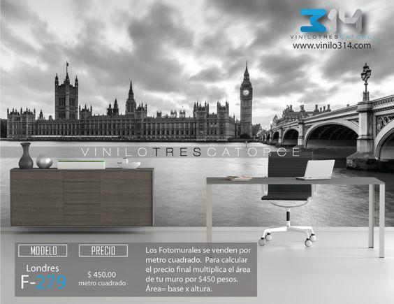 Fotomurales Ciudad Parlamento Ingles Big Ben Londres Inglaterra blanco y negro (tapiz) (mural) (fotomural). Vinilo 314 Guadalajara Mexico. Decoración de muros y superficies lisas. www.vinilo314.com