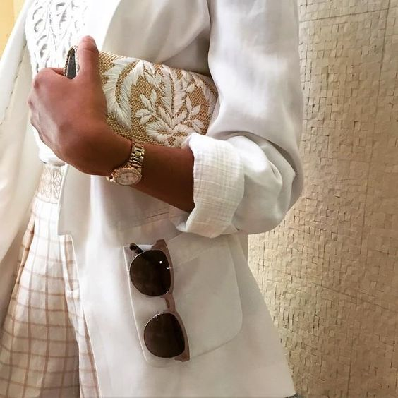 Bexhill Blazer #Anthropologie - how to look chic in a white blazer - great summer styling