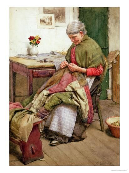 The Old Quilt-Walter Langley