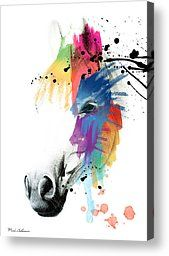 Horse On Abstract   Painting by Mark Ashkenazi - Horse On Abstract   Fine Art Prints and Posters for Sale
