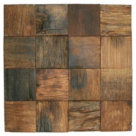 Reclaimed Boat Wood Tile 3 X 3 In 2020 Wood Mosaic Tile Brick Exterior House Wood Tile