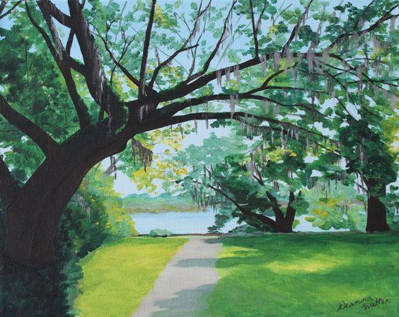 Charleston Live Painting de chêne par DeannaWalterFineArt sur Etsy