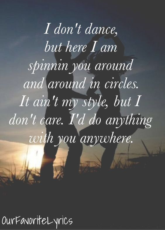 I Don't Dance - Lee Brice - OurFavoriteLyrics because this song says it perfect!