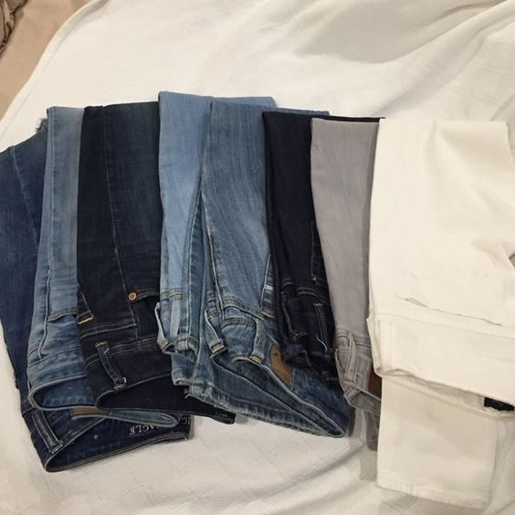 American Eagle jeans All colors and style American Eagle Jeans for sale let me know which pair $10 each American Eagle Outfitters Jeans