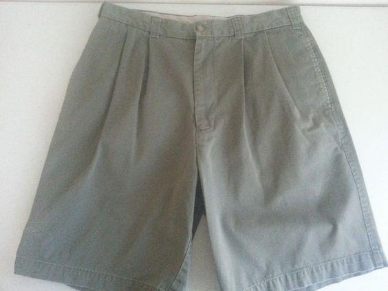 DANIEL CREMIEUX COLLECTION Men's Casual Shorts 33 Green Solid Pleated Cotton EUC #DanielCremieux #CasualShorts #ebay #DanielCremieux #CasualShorts