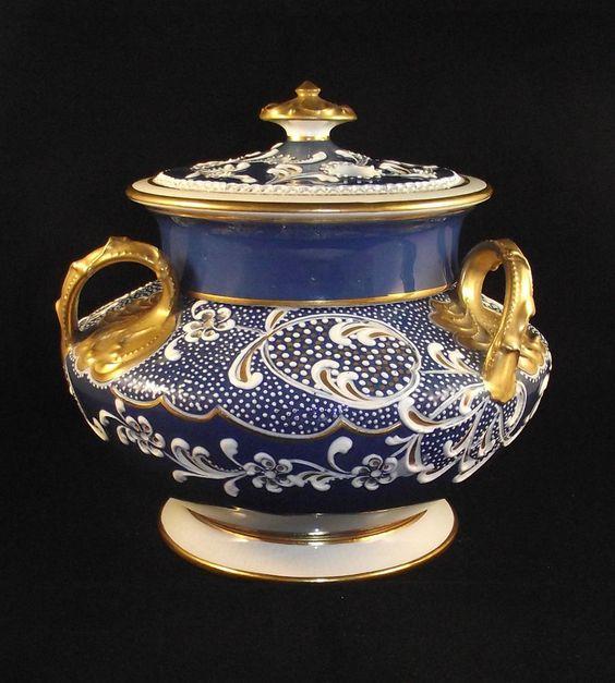 Rare Wedgwood Bone China Pot Pourri By Harry Barnard circa 1910