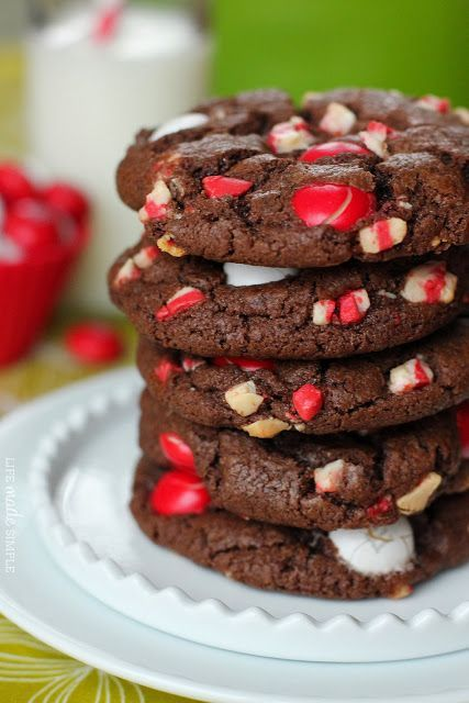 Chocolate Peppermint M&M Cookies