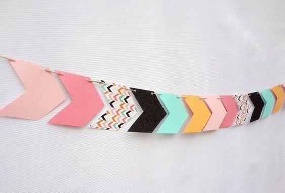 Geometric Glitter Arrow Garland One Stylish by onestylishparty
