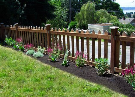 This fence is your traditional picket fence. It looks nice and it keeps animals out and your children in with no problems.