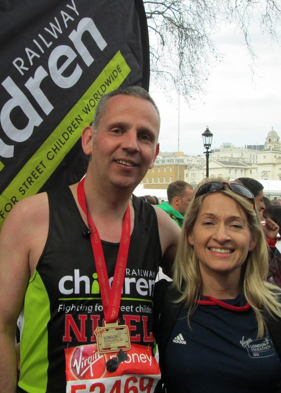 Nigel Baker ran the London Marathon for Railway Children. Thanks Nigel!