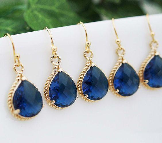 10 OFF SET of 5 Wedding Jewelry Bridal Earrings by earringsnation, $86.85