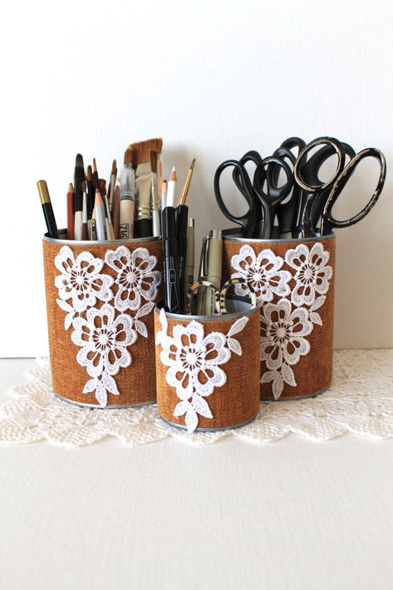 Pencil holders, Back to and Schools on Pinterest