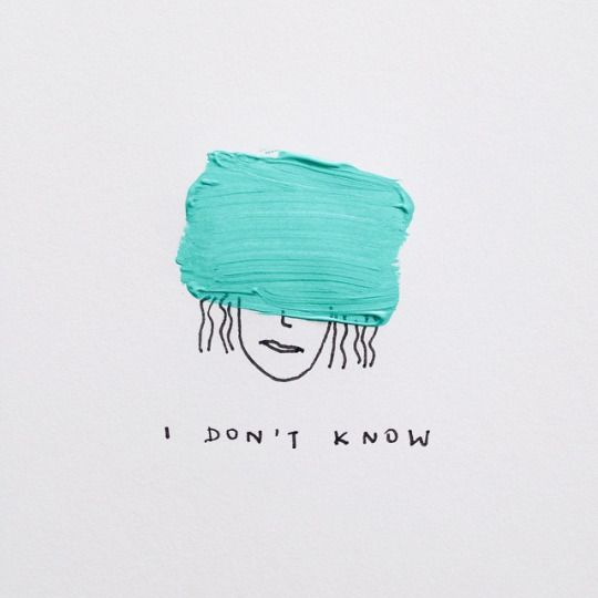 i don't know illustration by Melody Hansen