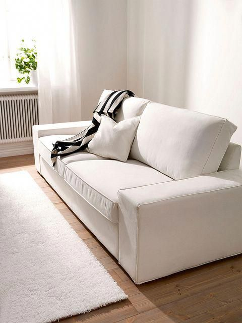 Ikea Kivik 3 Seater Sofa Cover White Slipcover White Slipcover