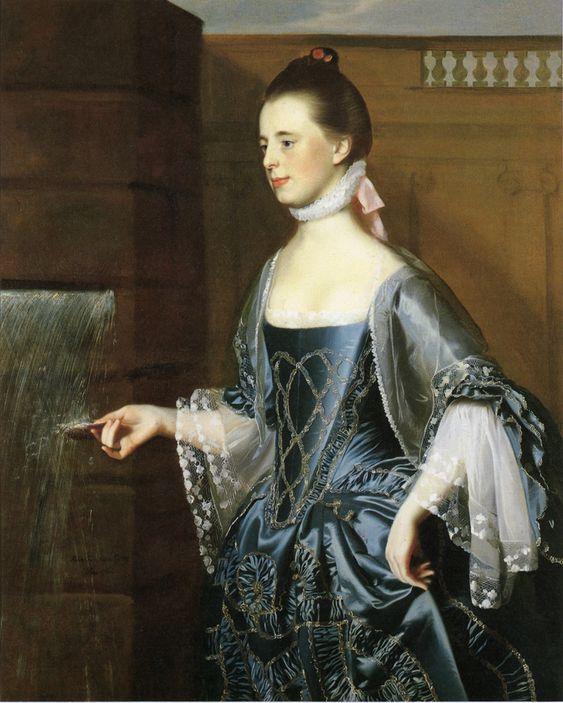 Judith Sargent Murray's best friend, her Aunt Maria. 1763 John Singleton Copley (1738-1815). Mary Turner (Mrs. Daniel Sargent).: