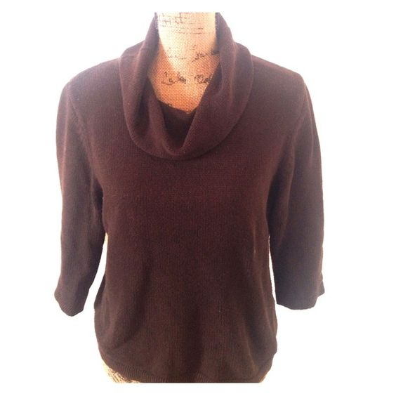 ❄️sale! dark brown cowl neck sweater | Cowl Neck Sweaters, Cowl ...