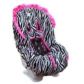 zebra and pink car seat cover