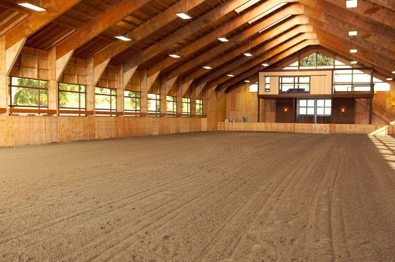Beautiful dressage arena
