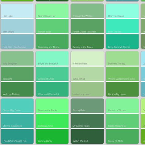 Pick the right green all things green pinterest for Shades of blue colours
