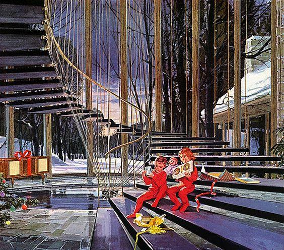 1961--Motorola-Christmas, artist- Charles Schridde: