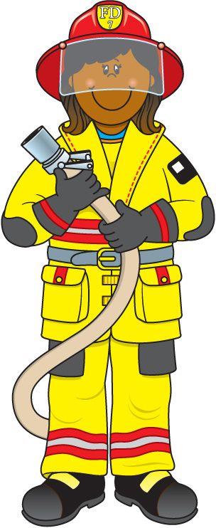 Clip Art Community Helpers Clipart community helper firefighter school learning helpers firefighter