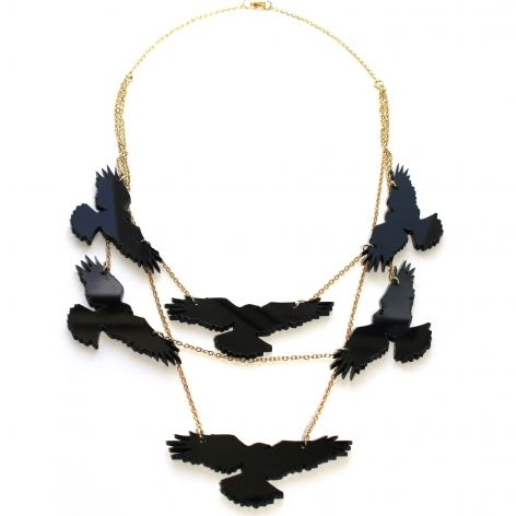 An Unkindness of Black Ravens necklace at Bottica $85.50