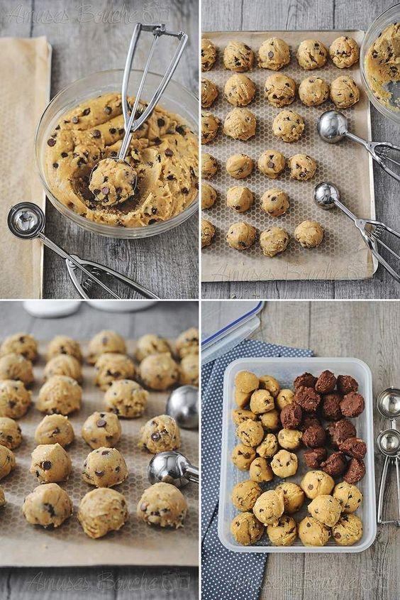 Malin ! Faites vos boules de cookies avec une cuillère à glace !