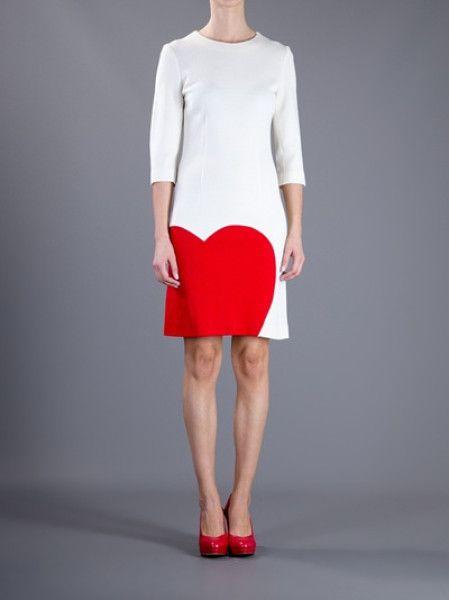 moschino heart dress