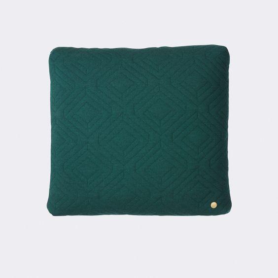 Quilt Cushion - Dark Green