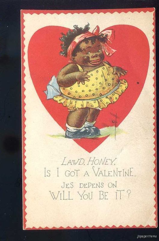 Sweet Vintage Valentine's Day greeting card from so many decades past ... this card makes my heart smile  .... probably a card a school girl gave to her classmate ...