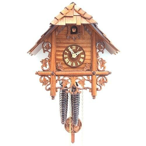 Romba Bahnhsusle 1223 Chalet Carved Vines Clock Black Forest