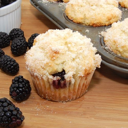 Lemon Ricotta Blackberry Muffins | Blackberry Muffin, Ricotta and ...
