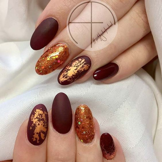 Tomnye Osennie Nejl Motivy V Ritme Tango 25 Lak Thanksgiving Nail Designs Thanksgiving Nails November Nails