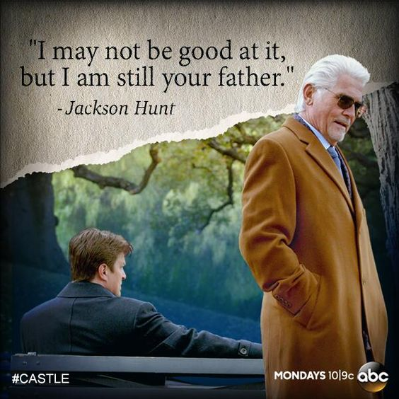 Castle @Castle_ABC Jan 13 Tonight, Castle reunites with his father when he least expects it.