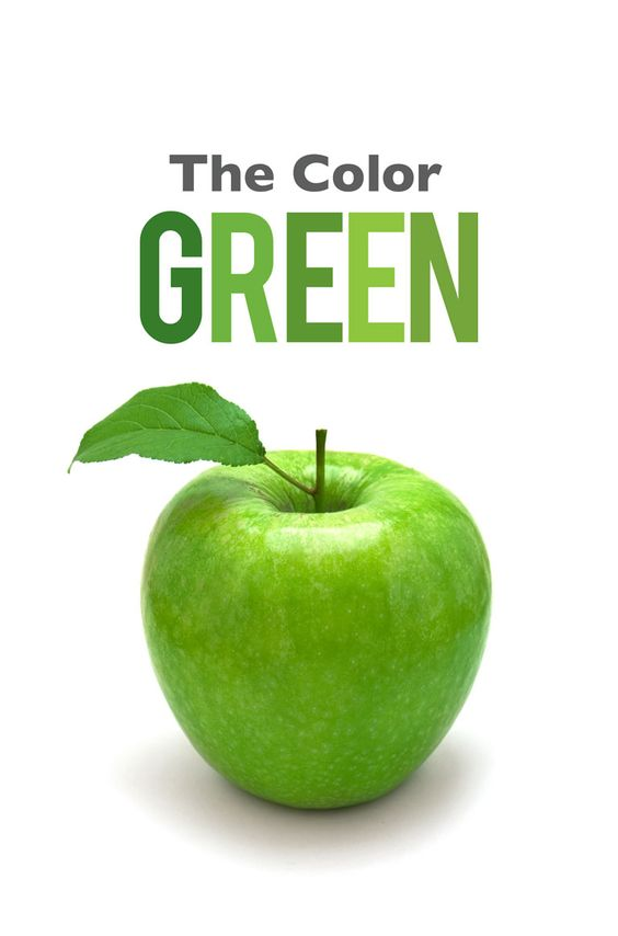 the colour green