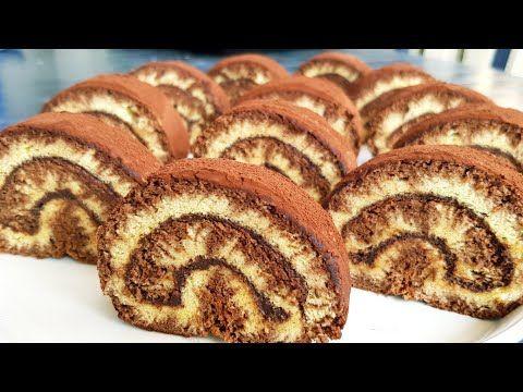 Swiss Roll كيك رولي سهل وسريع التحضير سويسرول كيك اسفنجي كيكة سهلة وسريعة التحضير حلوة دواز اتاي Youtube Food Breakfast French Toast