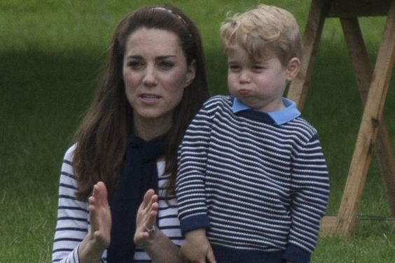 Duke and Duchess of Cambridge at Houghton Horse trials with Prince George and Princess Charlotte: